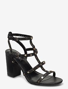 HANZ - højhælede sandaler - black