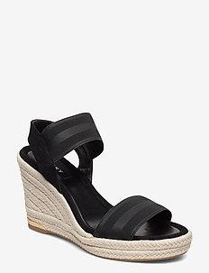 CAT - heeled espadrilles - black