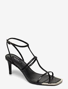LANDON - højhælede sandaler - black
