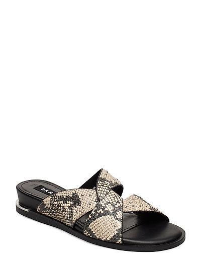 Della Shoes Summer Shoes Flat Sandals Beige DKNY