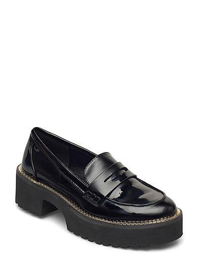 Alz - Loafer W/Lug Loafers Flache Schuhe Schwarz DKNY | DKNY SALE