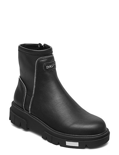 Lizzi - Ankle Boot Shoes Boots Ankle Boots Ankle Boot - Flat Schwarz DKNY