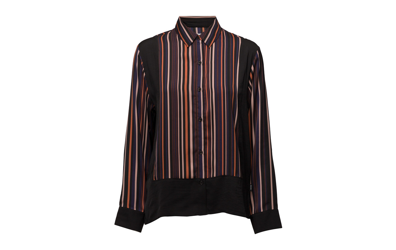 Top Polyester Homewear Luxe Laundered Multistripe Look Sl Satin Long 100 Of Dkny nUqYTRHH