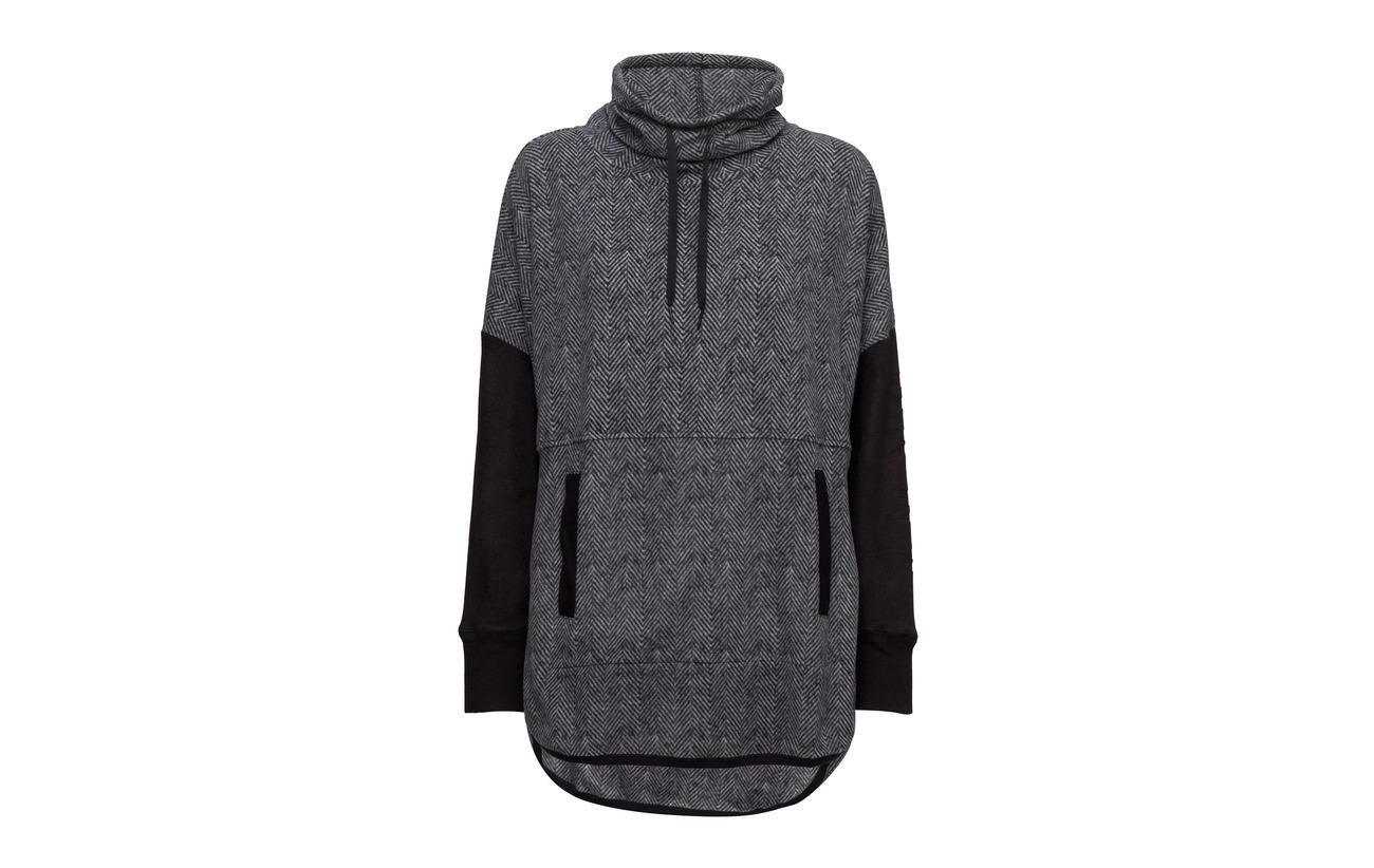 94 Black Homewear Polyester sleeve Strech Fleece Dkny Stretch Herringbone L 6 Loungers Elastane Tunic BYd8wqg
