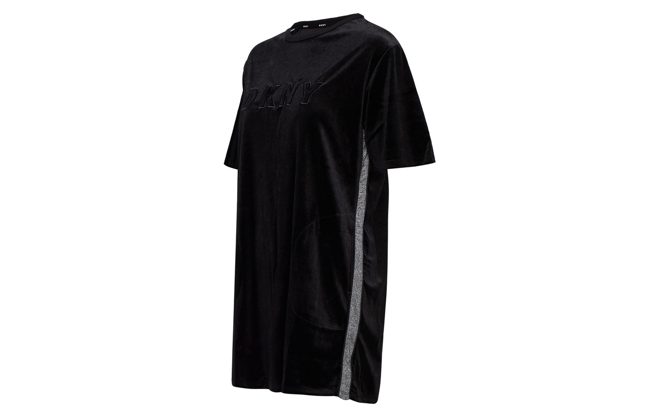Polyester Dkny Satin Sl 100 59 Lurex Doublure Intérieure Threads Homewear 2 1 Black Elastane Polyester 13 2 26 Jersey Équipement Mixed Viscose Sleepshirt Métallique rngvrqAxBw