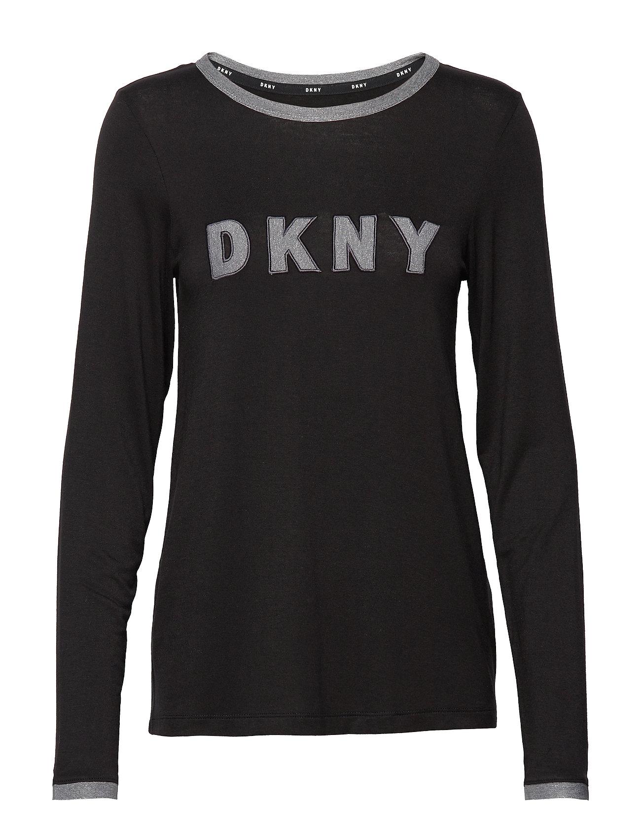 DKNY Homewear DKNY MIXED THREADS TOP L/S - BLACK