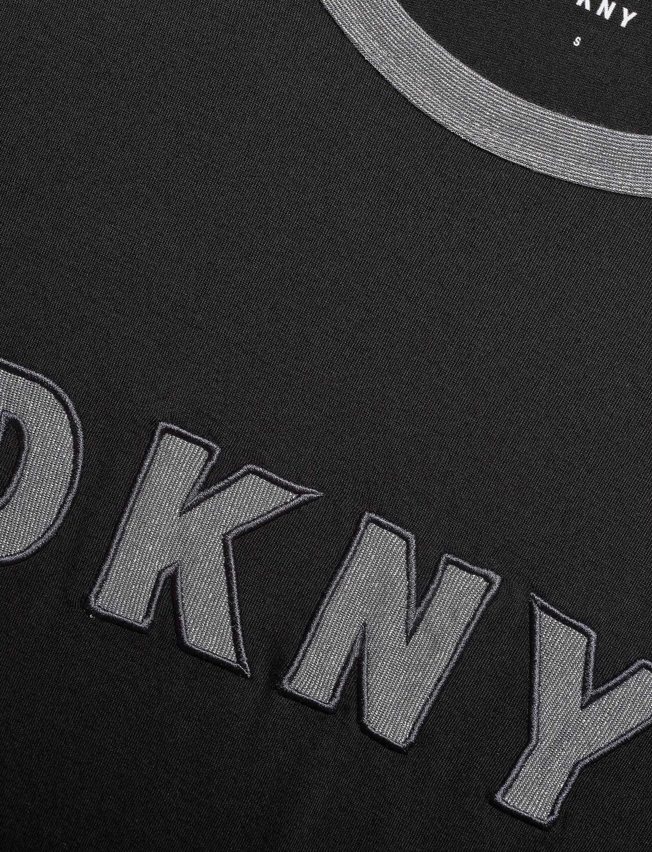 Dkny Homewear Mixed Threads Top L/s - T-shirts & Toppar Black