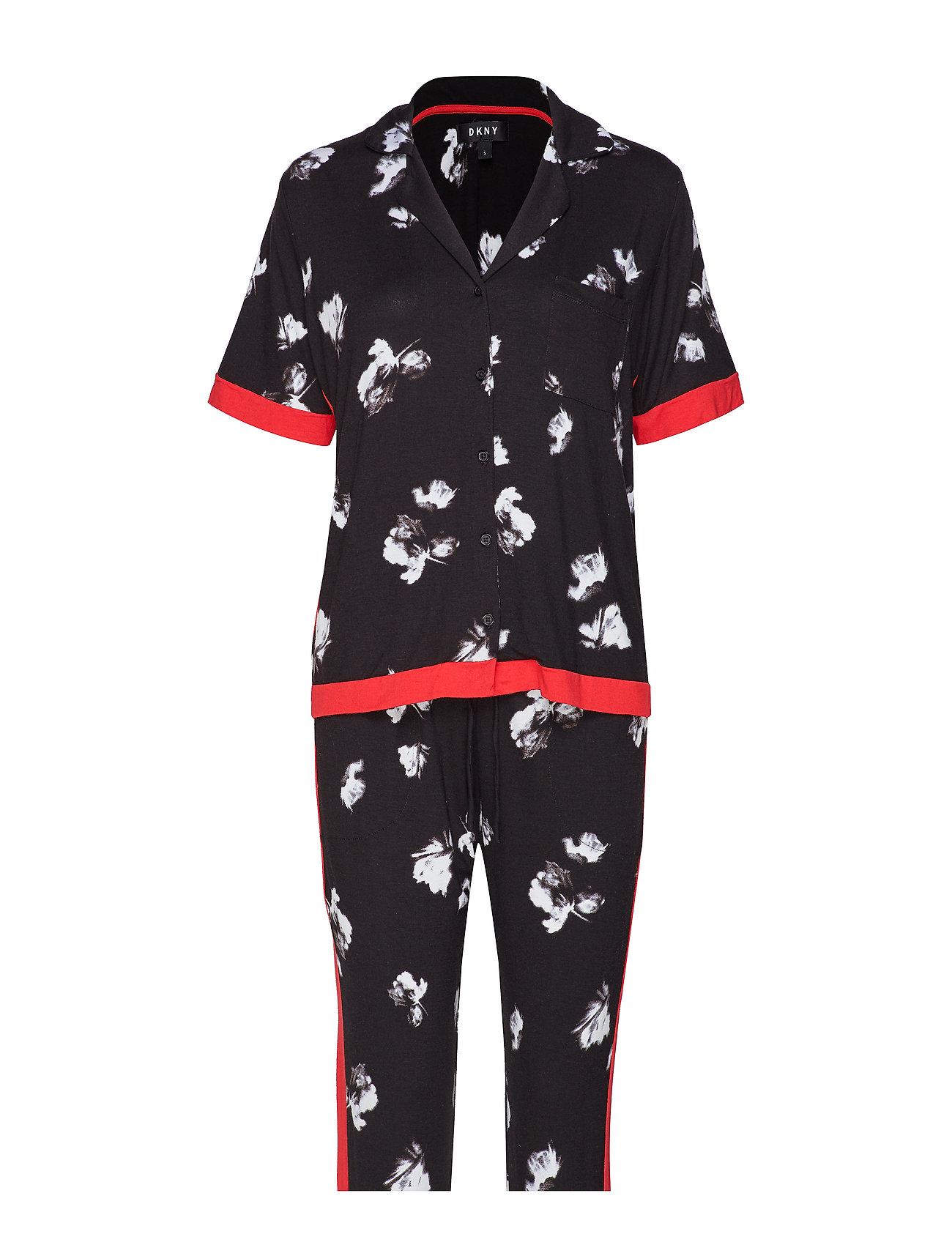 DKNY Homewear DKNY MODERN REFL. TOP & CAPRI PJ SET - BLACK FLORAL