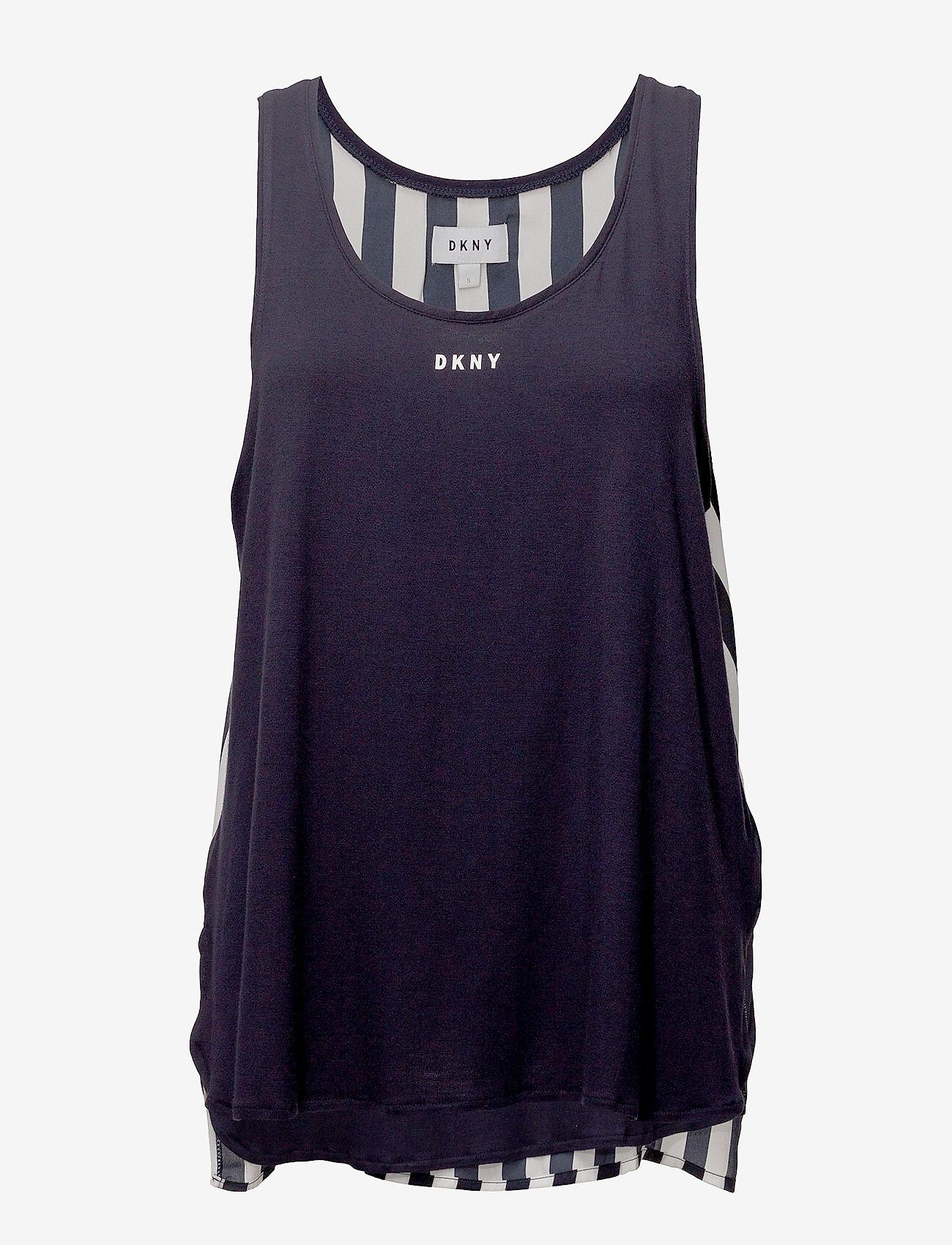 DKNY Homewear - DKNY WALK THE LINE TANK - oberteile - navy - 0