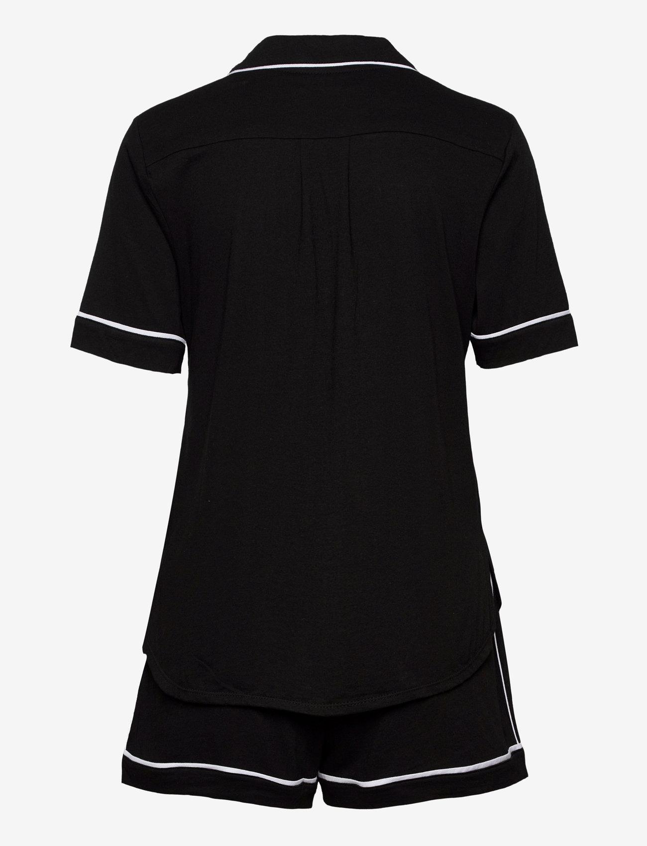 DKNY Homewear - DKNY NEW SIGNATURE S/S TOP & BOXER PJ - pyjama''s - black - 1