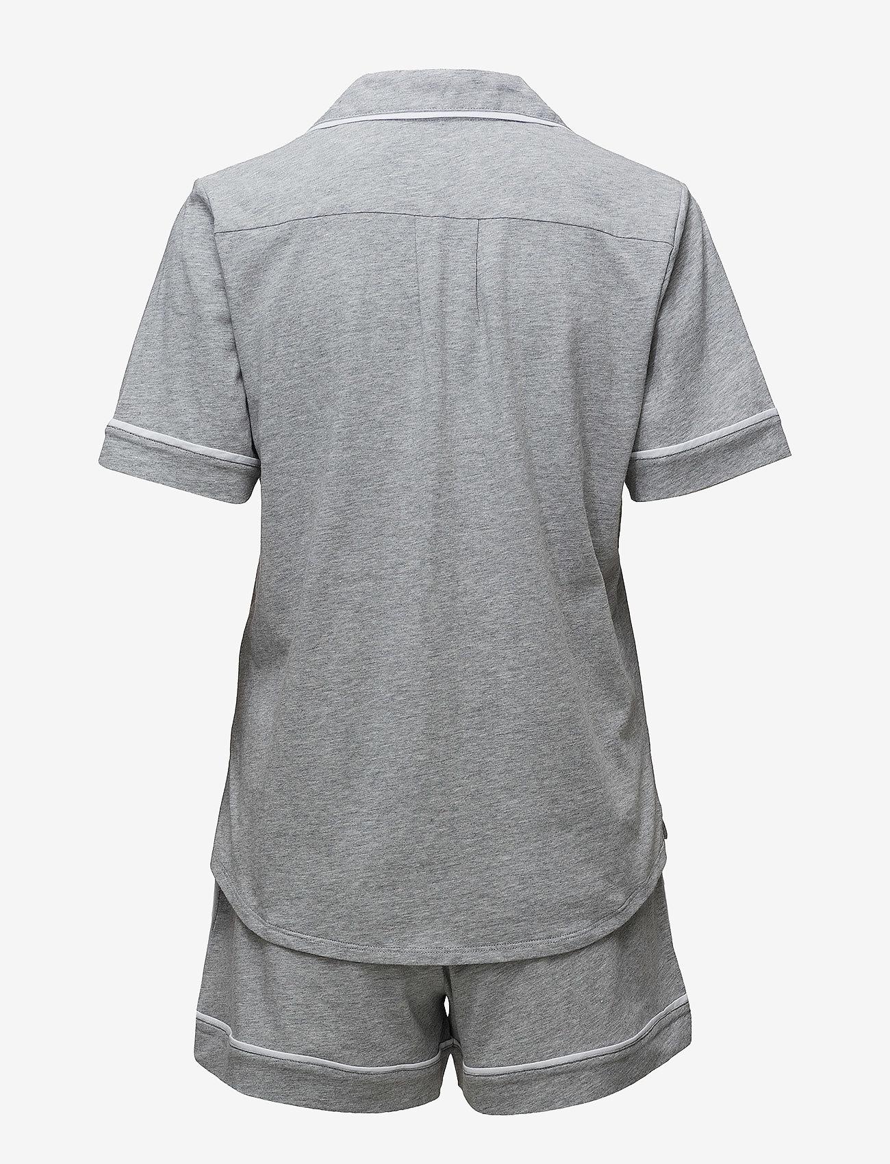 DKNY Homewear - DKNY NEW SIGNATURE S/S TOP & BOXER PJ - pyjama''s - grey heather - 1
