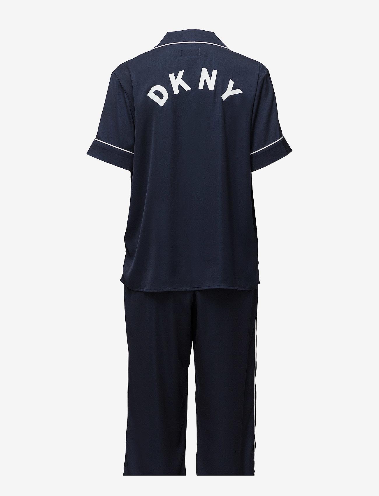 Dkny Walk The Line Top & Crop Pant (Navy) - DKNY Homewear bfCzZ4