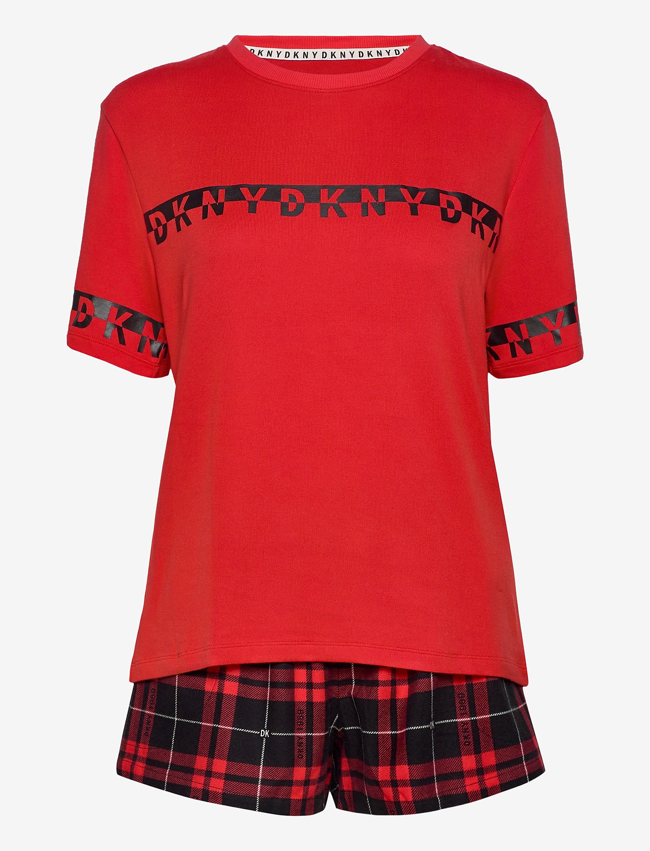 DKNY Homewear - DKNY 100% DKNY TOP, BOXER & EYEMASK BOX - pyjama''s - ruby check - 0