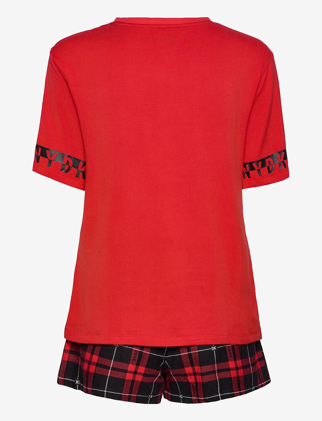 DKNY Homewear - DKNY 100% DKNY TOP, BOXER & EYEMASK BOX - pyjama''s - ruby check - 1