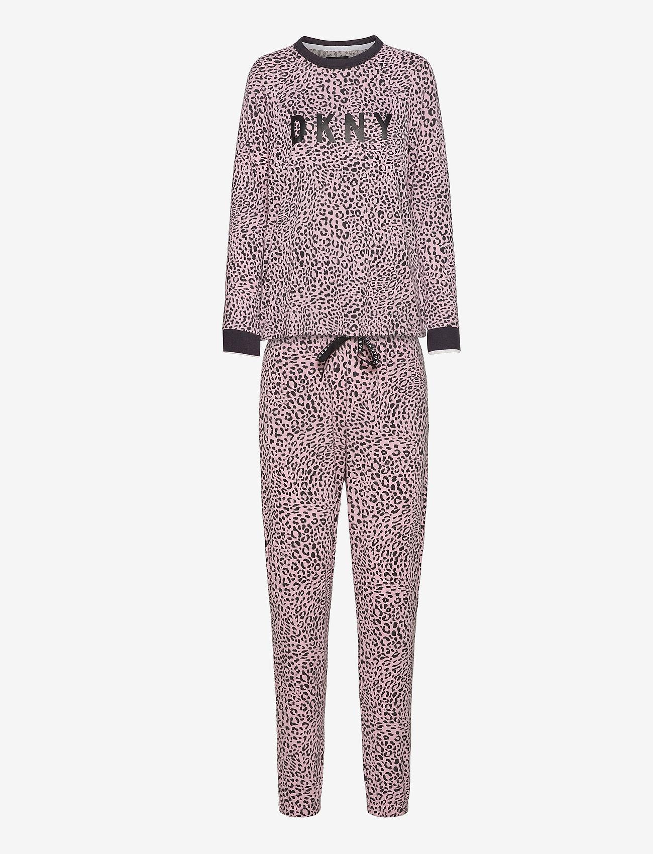 DKNY Homewear - DKNY NAME DROP TOP & JOGGER SET - pyjama''s - cosmos animal - 0