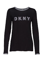 DKNY SIGNATURE ROBE L/S 91 CM - BLACK