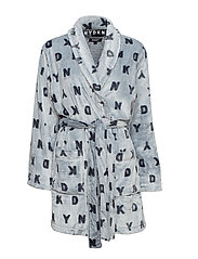 DKNY SIGNATURE ROBE L/S 91 CM - FROSTED GREY