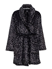 DKNY SIGNATURE ROBE L/S 91 CM - STERLING LEOPARD