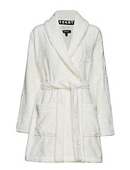 DKNY SIGNATURE ROBE L/S 91 CM - WINTER WHITE