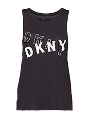 DKNY ONLY IN DKNY TANK TOP - BLACK LOGO