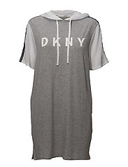 DKNY SPELL IT OUT HOODED SLEEPSH. 1/2 SL - GREY HEATHER