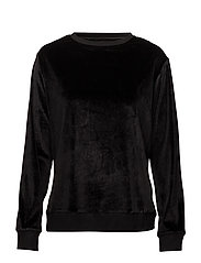 DKNY INSERT LOGO SLEEP TOP L/S - BLACK