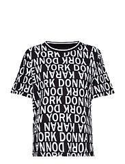 DKNY HELLO NEW YORK TOP 63,5 CM - BLACK ALLOVER PRINT
