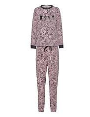 DKNY NAME DROP TOP & JOGGER SET - COSMOS ANIMAL