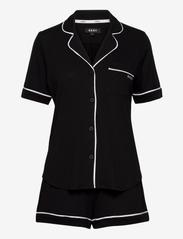DKNY Homewear - DKNY NEW SIGNATURE S/S TOP & BOXER PJ - pyjama''s - black - 0