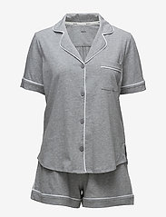 DKNY Homewear - DKNY NEW SIGNATURE S/S TOP & BOXER PJ - pyjama''s - grey heather - 0