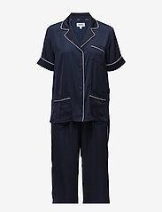 DKNY Homewear - DKNY WALK THE LINE TOP & CROP PANT - pyjamas - navy - 0