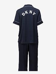 DKNY Homewear - DKNY WALK THE LINE TOP & CROP PANT - pyjamas - navy - 1