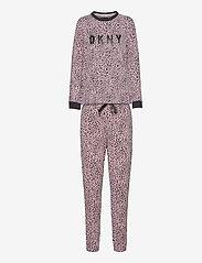 DKNY Homewear - DKNY NAME DROP TOP & JOGGER SET - pyjama''s - cosmos animal - 1