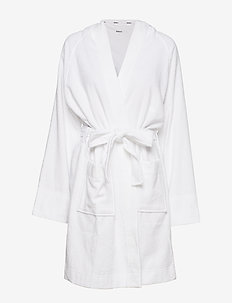 "DKNY NEW SIGNATURE L/S ROBE 40"" - WHITE"