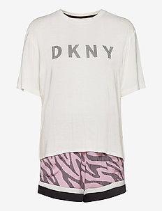 DKNY URBAN JUNGLE TEE, BOXER & EYEMASK - pyjamas - cosmos