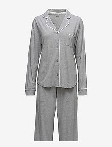 DKNY NEW SIGNATURE L/S TOP & PANT PJ SET - pyjama''s - grey heather