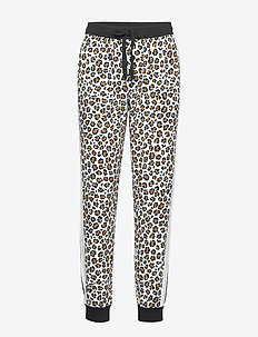 DKNY LEAVING OUR MARK JOGGER - bottoms - white animal