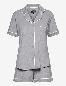 DKNY NEW SIGNATURE S/S TOP & BOXER PJ - pyjama''s - grey heather