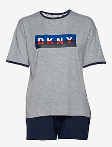 DKNY NEW YORK ENERGY TEE & BOXER SET - pyjamas - ink
