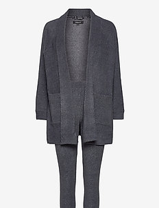 DKNY ALL ABOUT LAYERS L/S COZY & LEGGING - pyjamas - charcoal heather