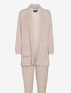 DKNY ALL ABOUT LAYERS L/S COZY & LEGGING - piżamy - shell heather