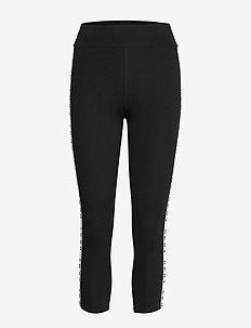 DKNY THE WARM UP CROP LEGGINGS - underdele - black