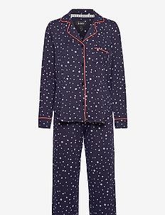 DKNYREADY SET GIFT TOP & PANT SET FOLDED - pyjamas - ink star
