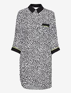 DKNY WILD SIDE SLEEPSHIRT 3/4 SL - pyjamas - offwhite animal