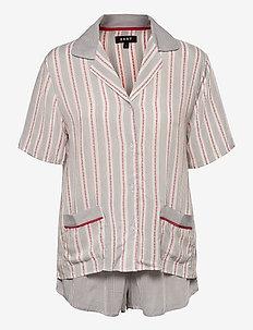 DKNY DESTINATION DKEN TOP & BOXER SET - pyjamas - sidewalk ministripe