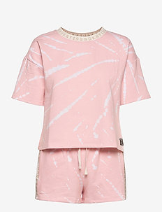 DKNY CALLING TOP & BOXER PJ SET S/SL. - pyjamas - lotus tie dye