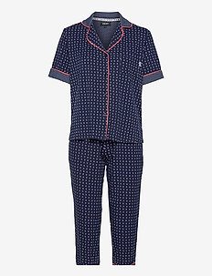 DKNY SPRING EDIT TOP & CAPRI PJ SET - pyjamas - dive crescent