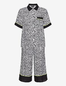 DKNY WILD SIDE TOP & CAPRI PJ SET - pyjamas - offwhite animal