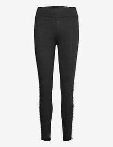 DKNY TECHNICAL JERSEY SLEEP LEGGINGS - bottoms - black