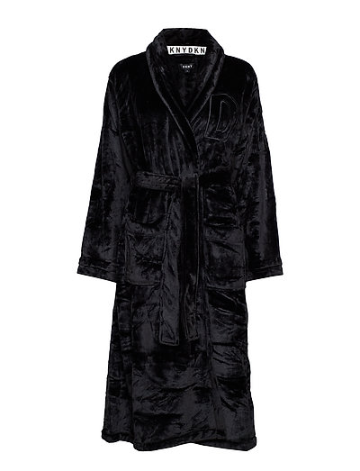 DKNY SIGNATURE ROBE L/S - BLACK